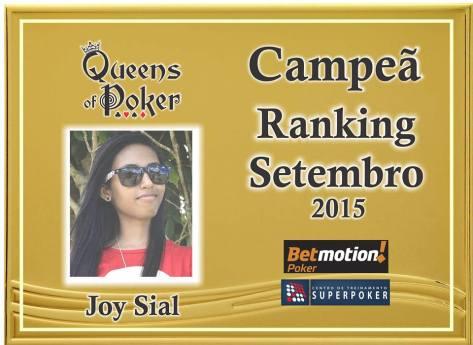 Campeã Joy Sial