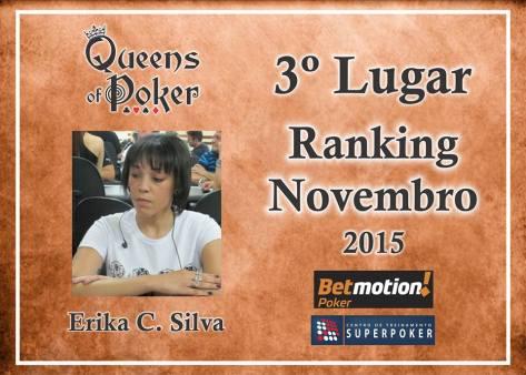 Erika C Silva 3 colocada