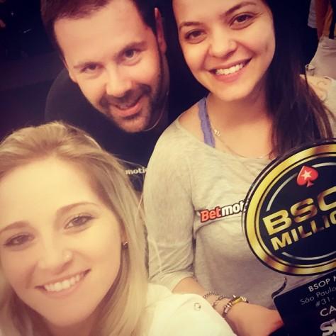Milena Magrini, Leonardo Baptista e Carol Dupré.