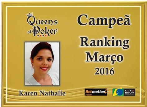 Campeã Karen Nathalie