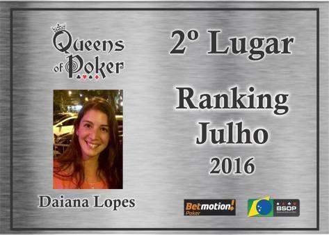 2a colocada Daiana Lopes